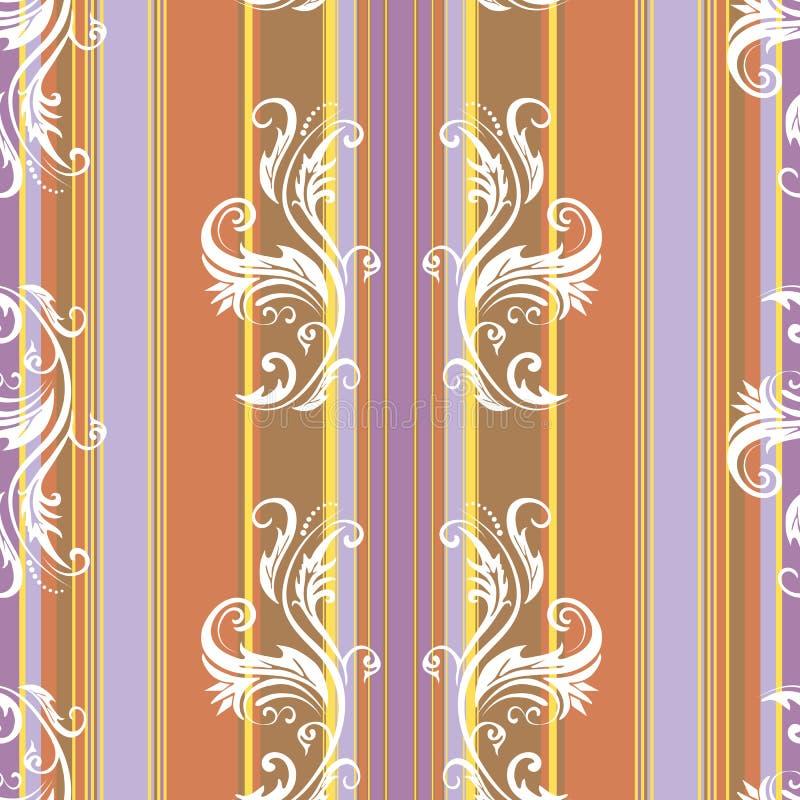 Fundo floral abstrato das listras (vetor) ilustração royalty free
