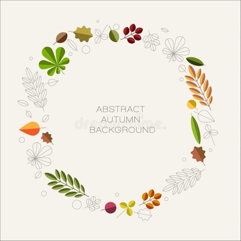 Fundo floral abstrato do outono com lugar para seu texto ilustração stock