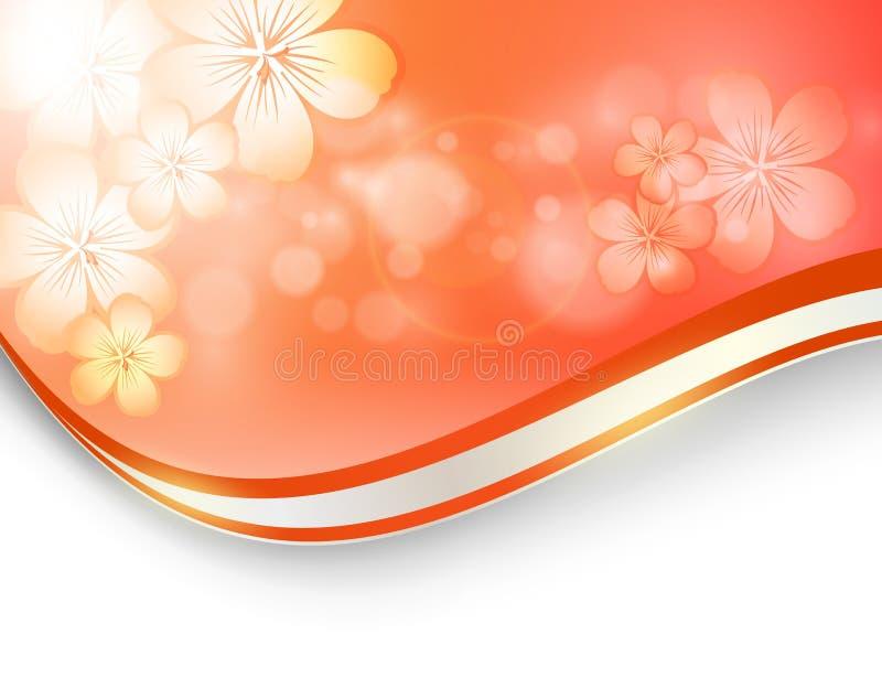 Fundo floral abstrato do vetor ilustração stock