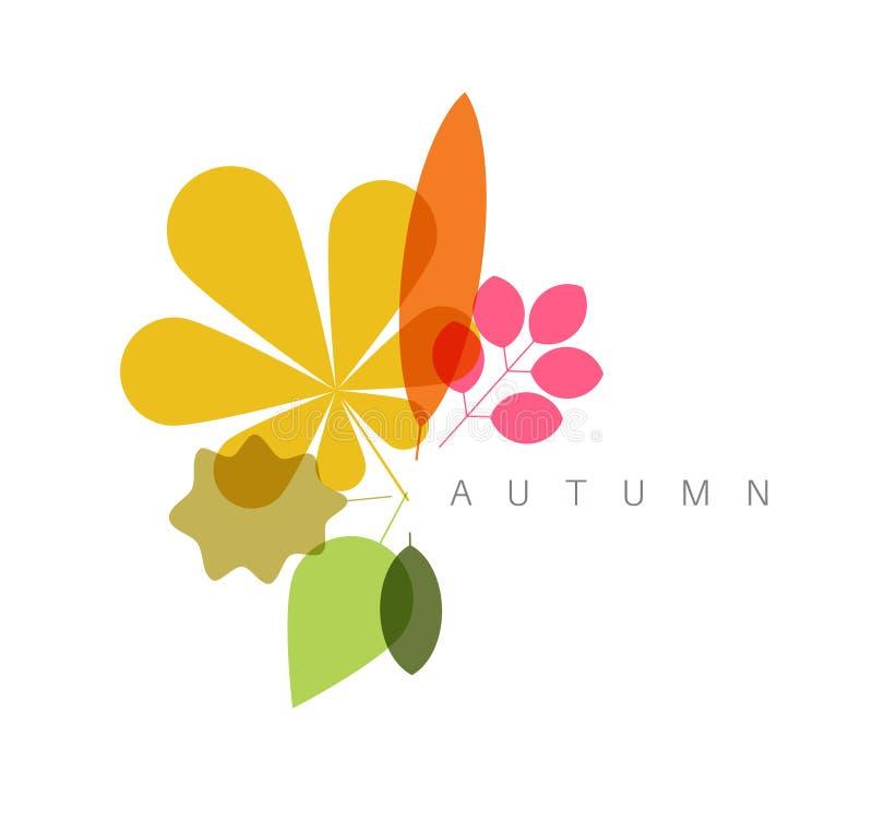Fundo floral abstrato minimalista do outono ilustração do vetor