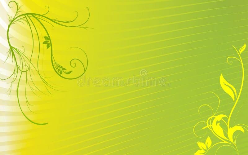 Fundo floral amarelo verde ilustração do vetor