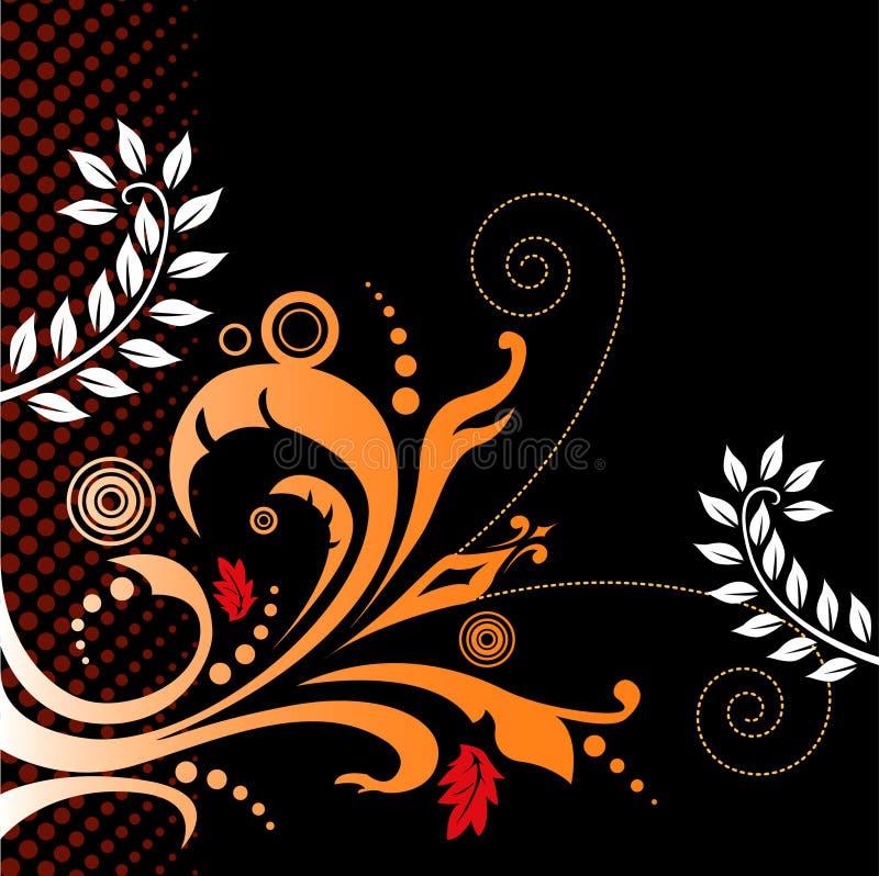 Fundo floral artístico ilustração royalty free