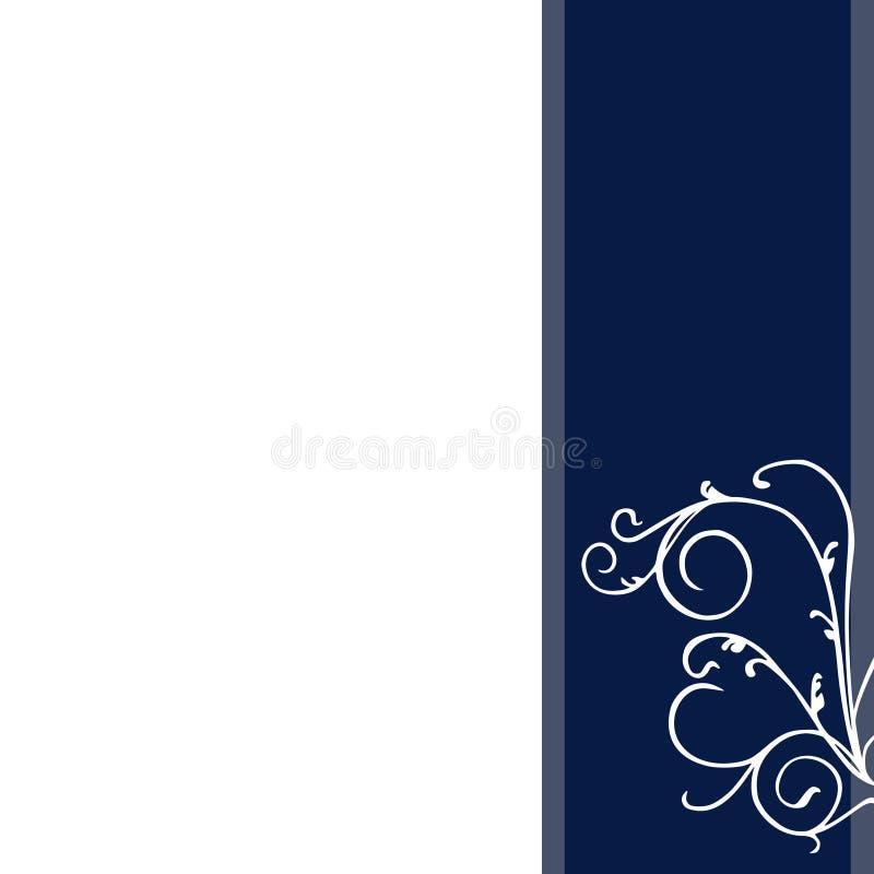 Fundo floral azul abstrato dos artigos de papelaria da decoração ilustração royalty free