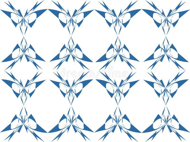 Fundo floral azul e branco ilustração do vetor