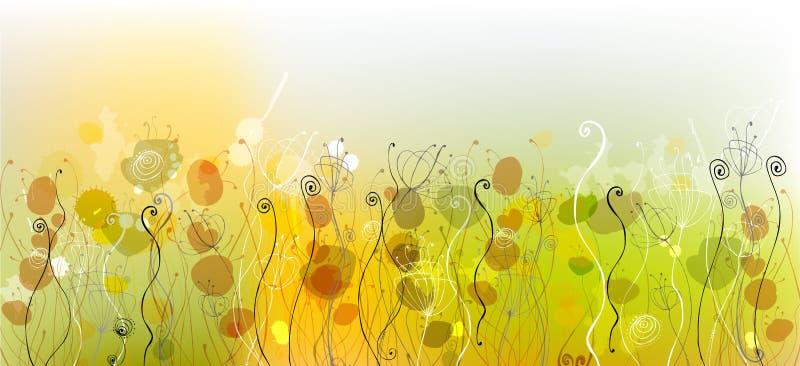Fundo floral bonito ilustração do vetor