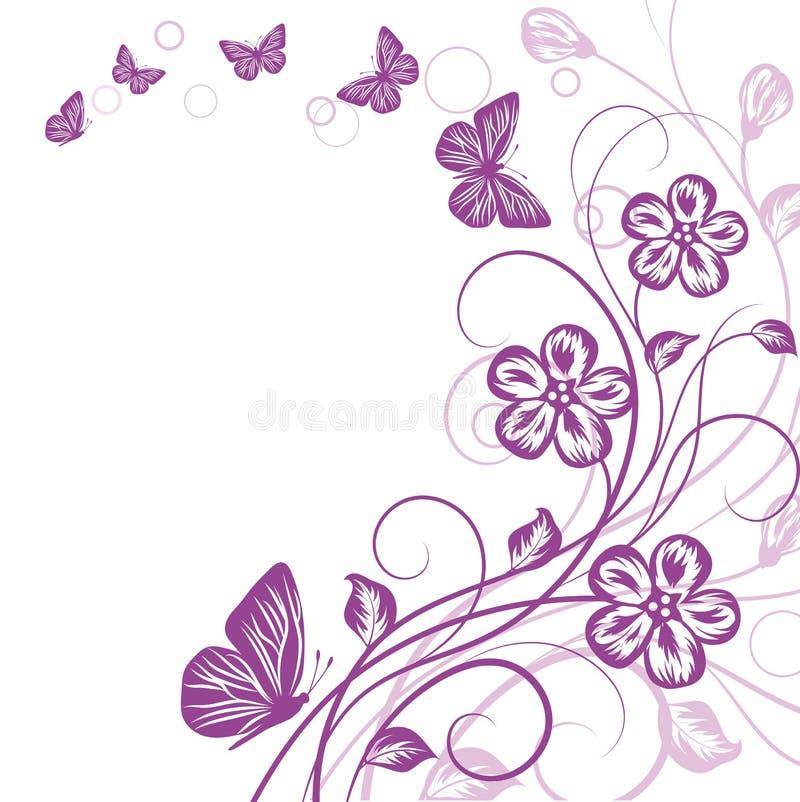 Fundo floral bonito do fundo… com flores coloridas ilustração royalty free