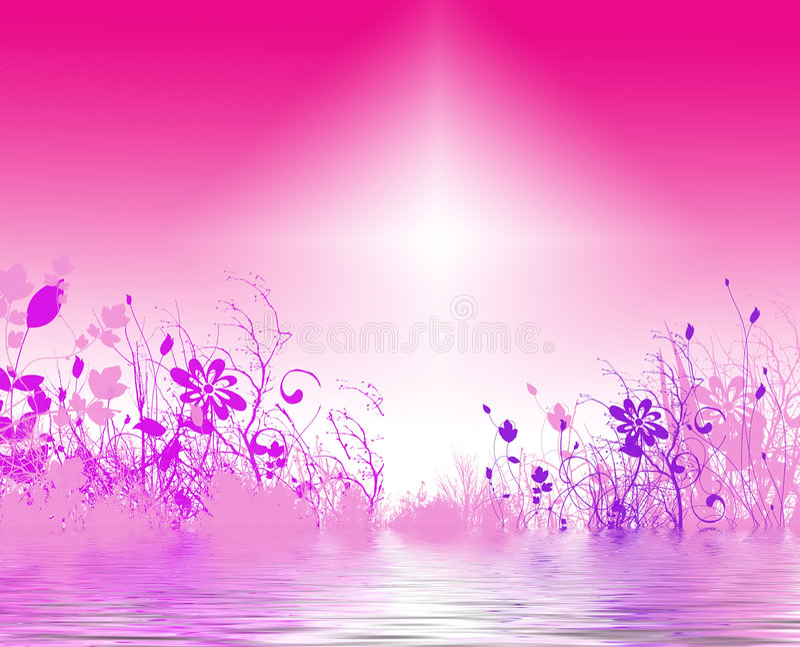 Fundo floral brilhante ilustração stock