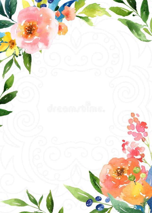 Fundo floral brilhante decorativo ilustração royalty free