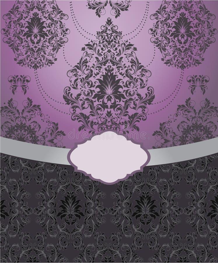 Fundo floral, cartão do convite ilustração do vetor