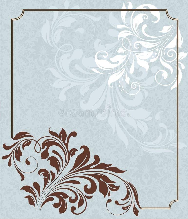 Fundo floral, cartão do convite ilustração royalty free