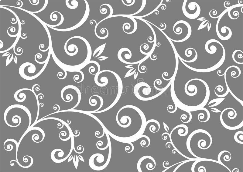 Fundo floral cinzento ilustração stock
