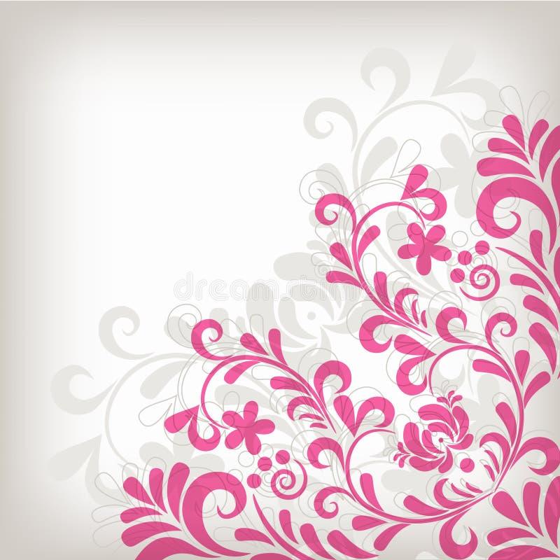 Fundo floral clássico macio ilustração stock