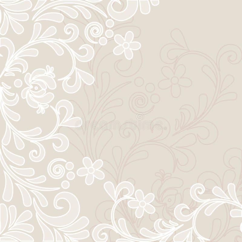 Fundo floral clássico macio ilustração royalty free