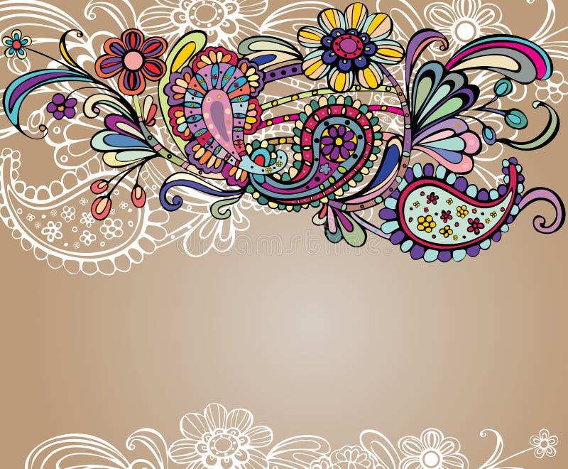 Fundo floral colorido ilustração royalty free