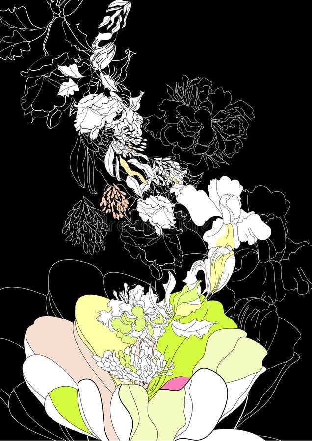 Fundo floral colorido ilustração stock