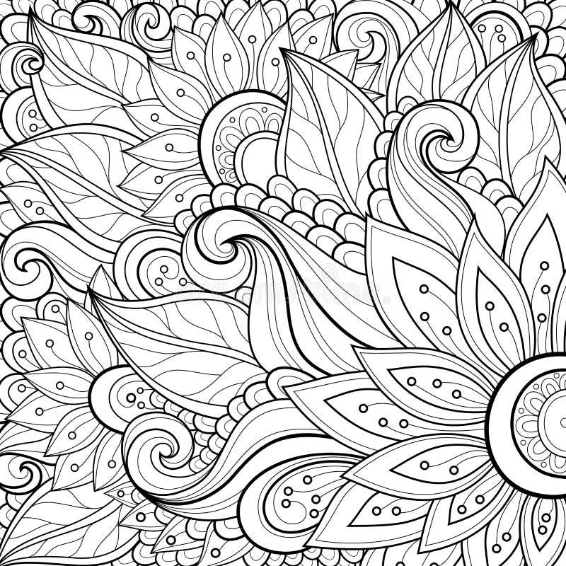 Fundo floral colorido vetor ilustração royalty free