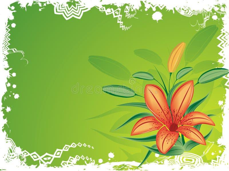 Fundo floral com borrões, vetor de Grunge ilustração royalty free