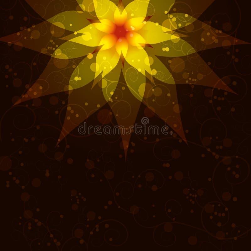 Fundo floral com flor abstrata, convite ilustração do vetor