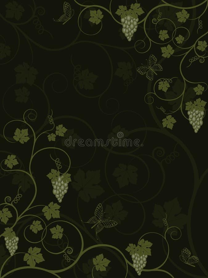 Fundo floral com videira. ilustração royalty free