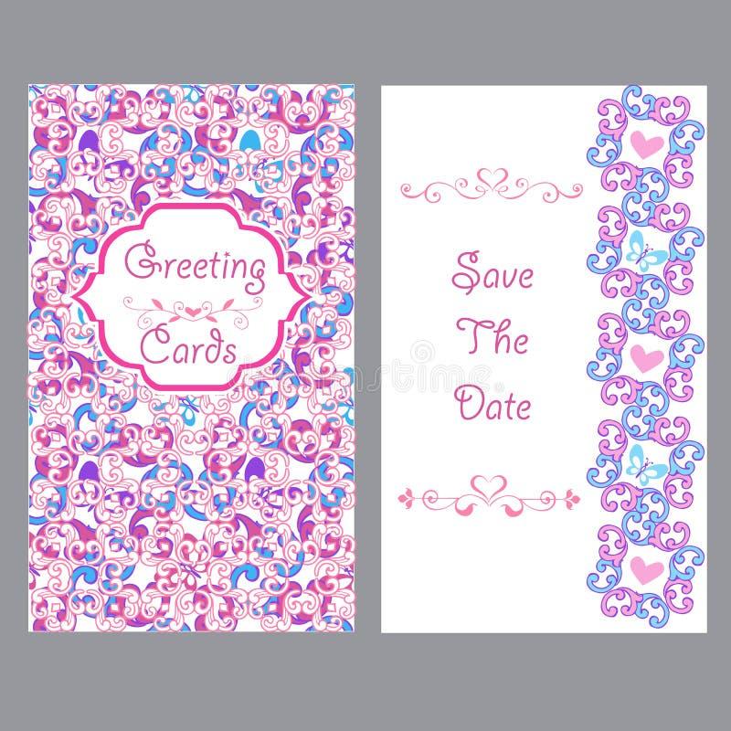 Fundo floral cor-de-rosa elegante Fundo cor-de-rosa do vintage para cartões Feliz aniversario, feriado ilustração royalty free