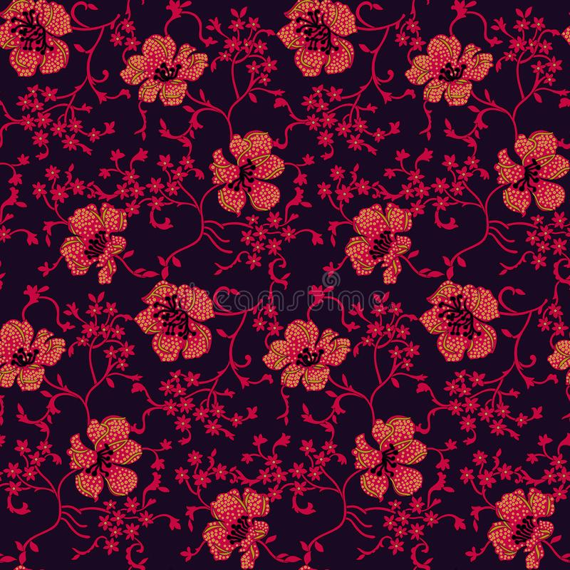 Fundo floral corajoso da flor do vintage sem emenda ilustração royalty free