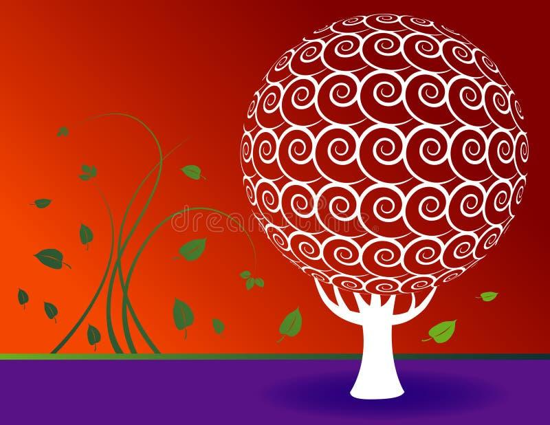 Fundo floral da árvore ilustração do vetor