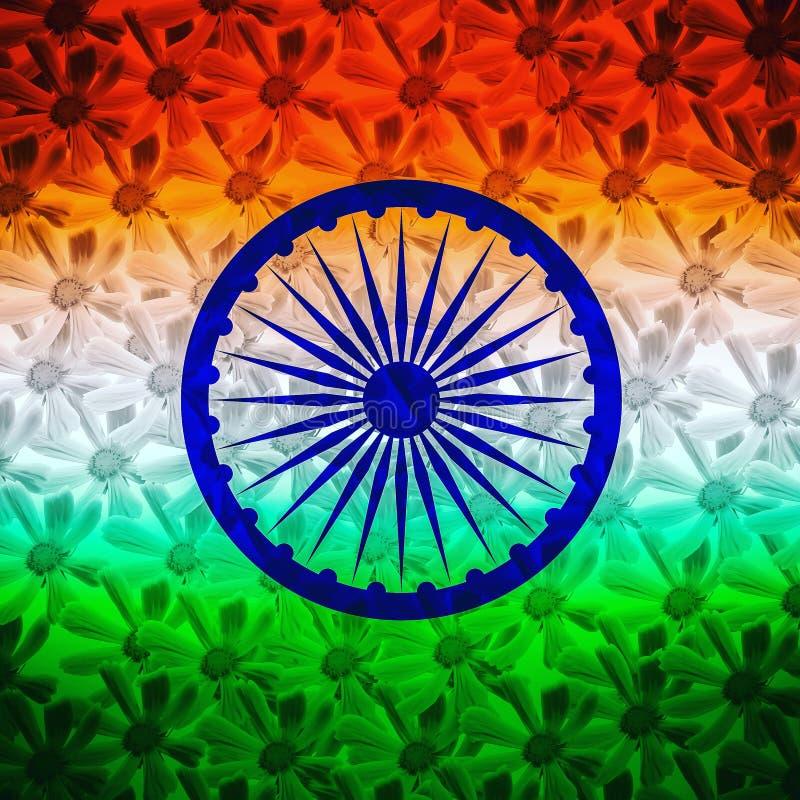 Fundo floral da bandeira indiana abstrata imagens de stock royalty free