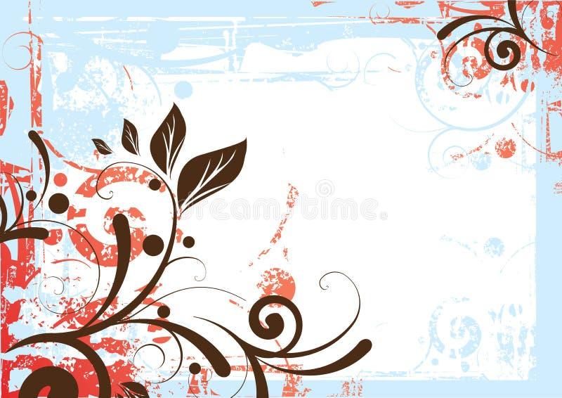 Fundo floral da beira ilustração royalty free