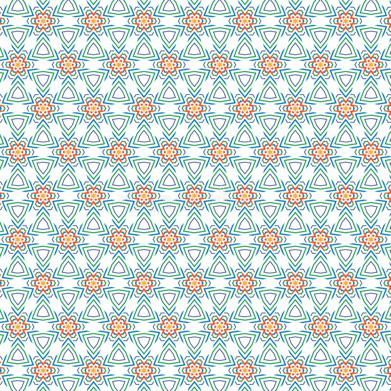 Fundo floral da textura do teste padrão do círculo da flor da folha colorida abstrata original ilustração do vetor