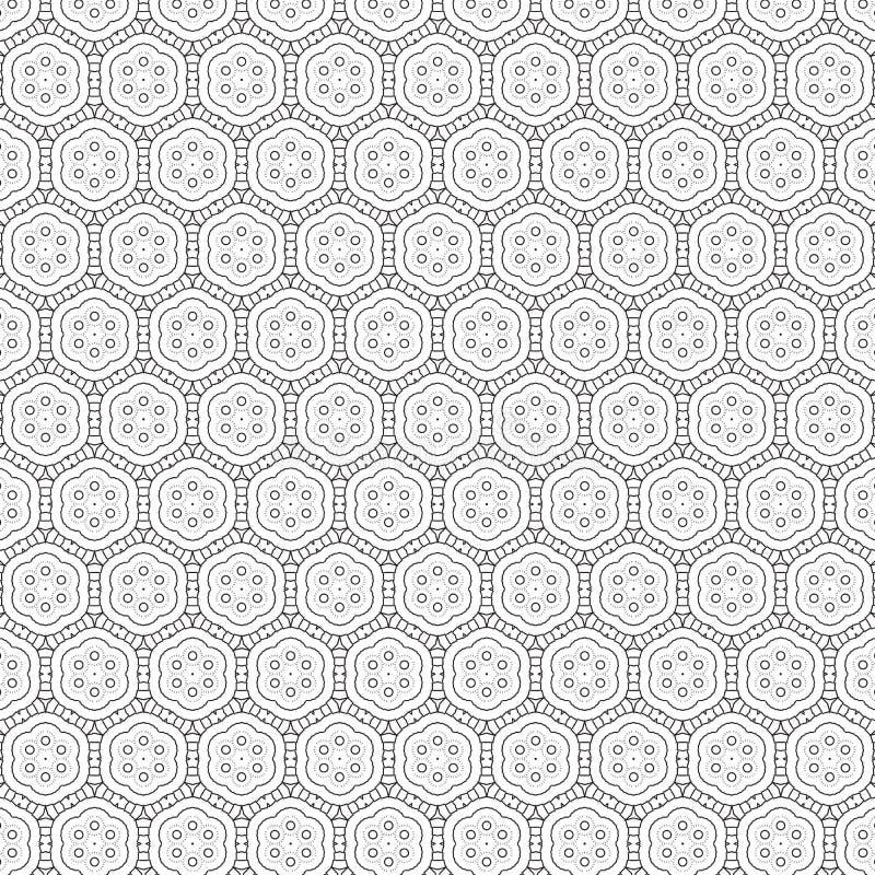 Fundo floral da textura do teste padrão de flor da folha colorida abstrata original ilustração do vetor