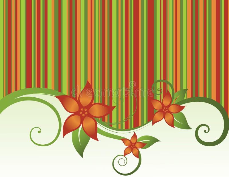 Fundo floral das listras ilustração royalty free