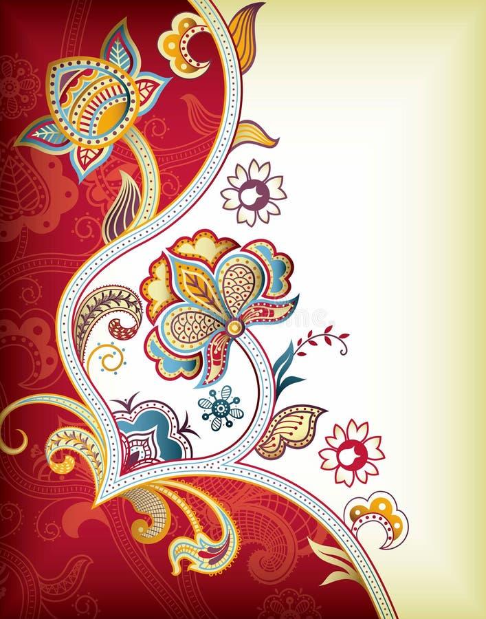 Fundo floral de Ásia ilustração stock