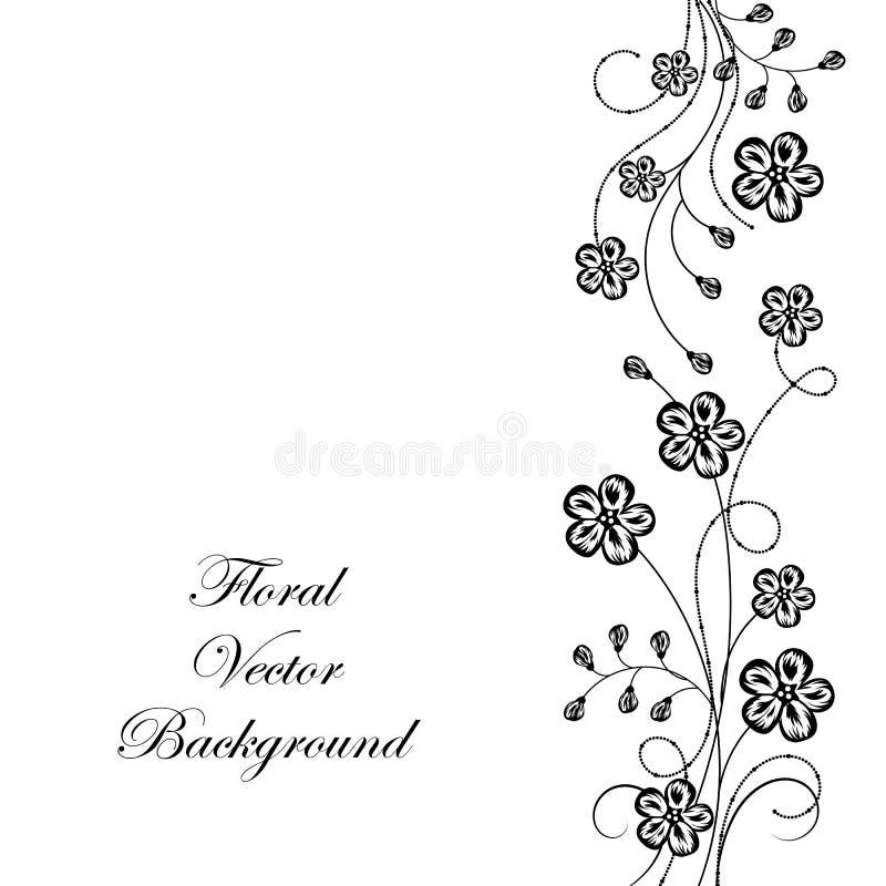 Fundo floral de Beeautiful em preto e branco ilustração do vetor