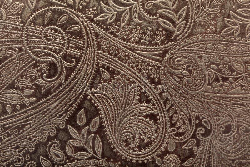Fundo floral de couro do teste padrão foto de stock
