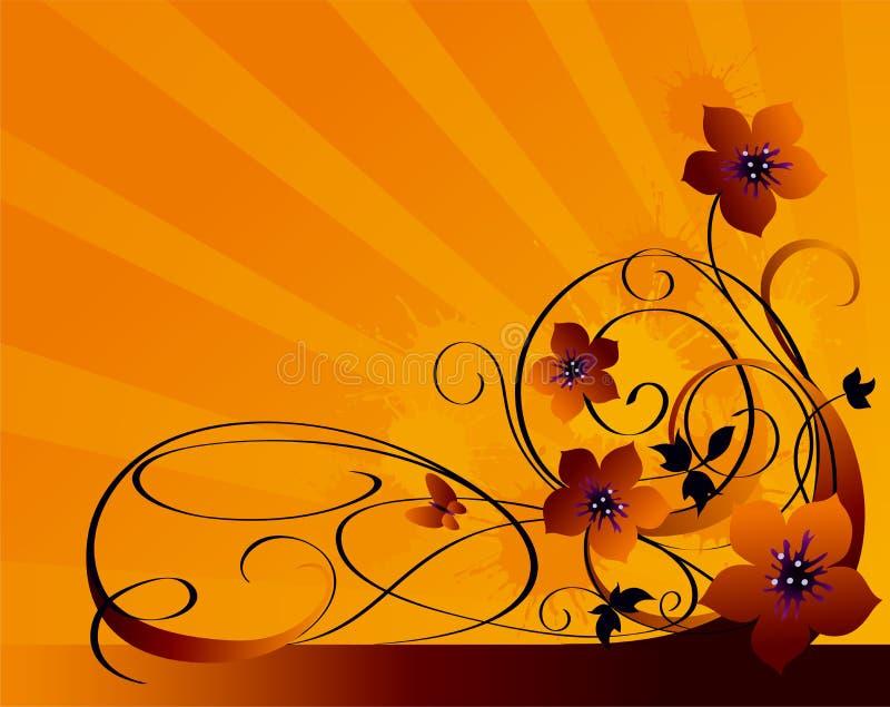 Fundo floral de Grunge ilustração do vetor