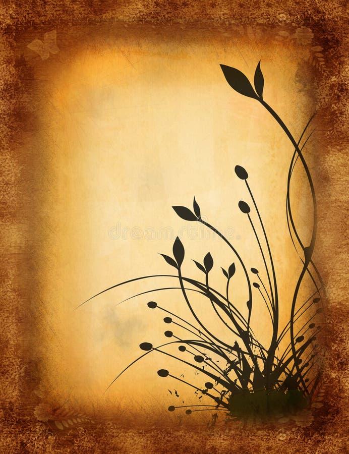 Fundo floral de Grunge ilustração royalty free