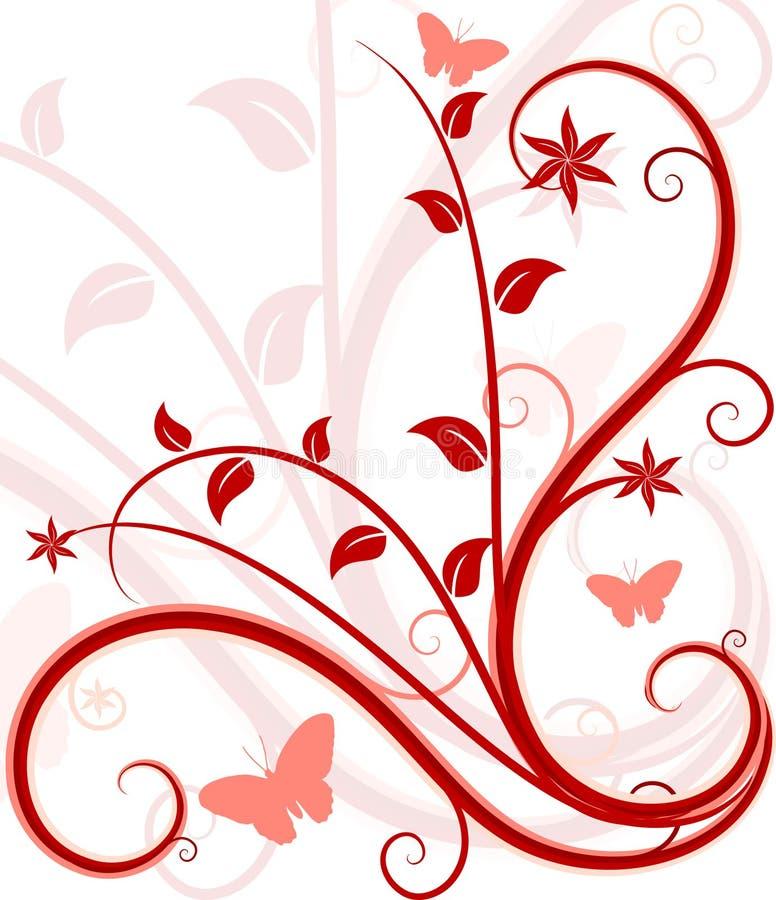 Fundo floral de Grunge. ilustração stock