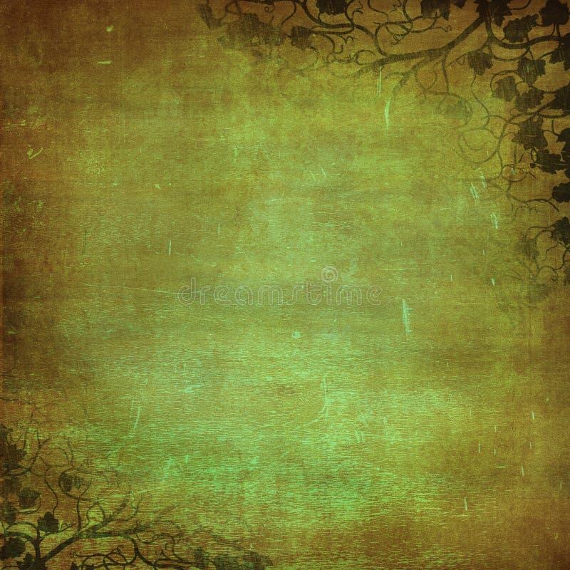Fundo floral de Grunge com espaço para o texto ou o im ilustração royalty free