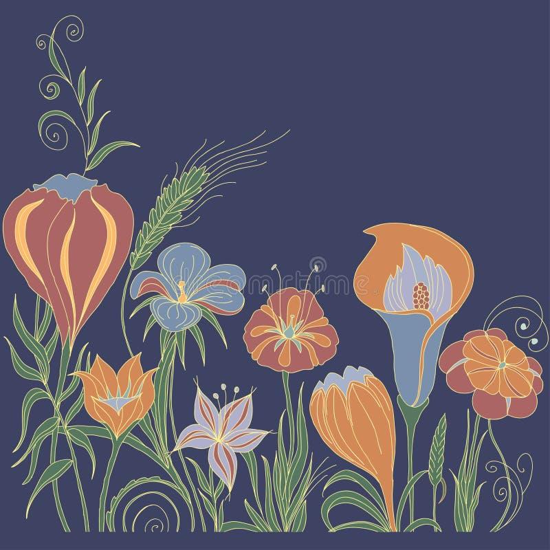 Fundo floral decorativo foto de stock royalty free