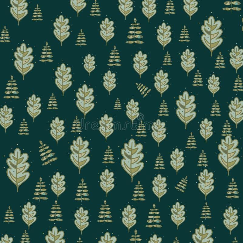 Fundo floral Design floral do vetor, teste padrão da folha ilustração do vetor