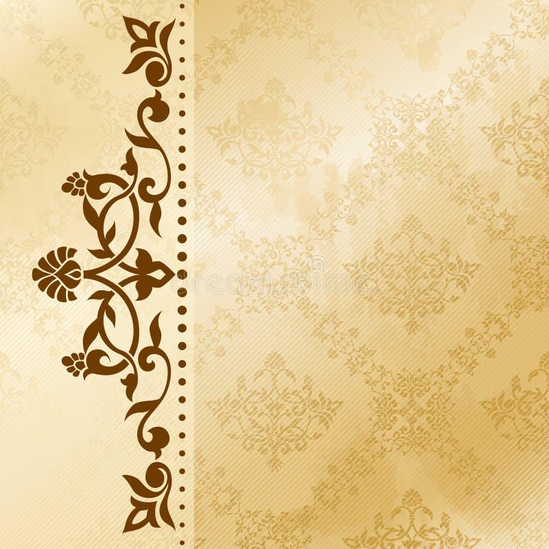 Fundo floral do arabesque em tons do sepia foto de stock