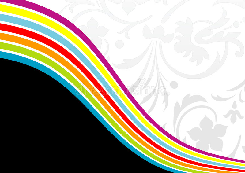 Fundo floral do arco-íris ilustração royalty free