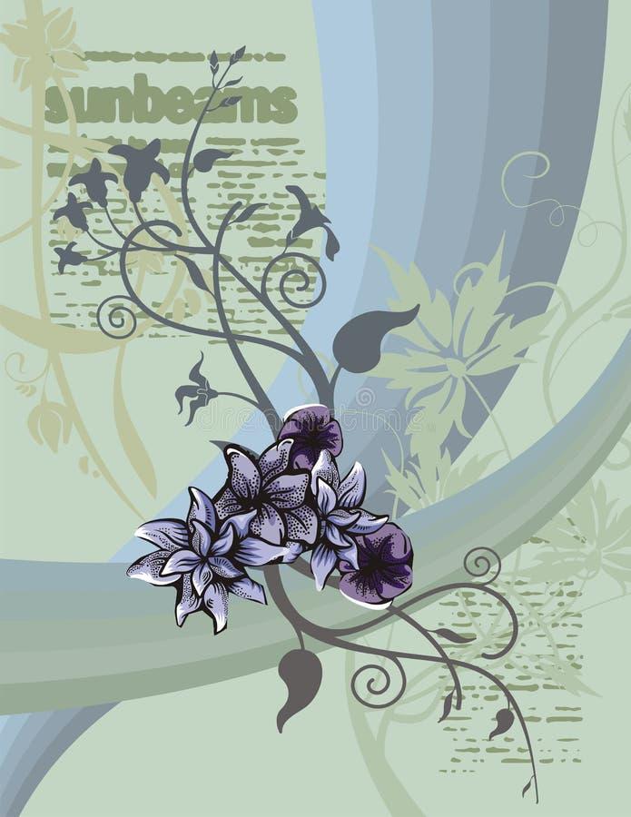Fundo floral do artigo ilustração do vetor