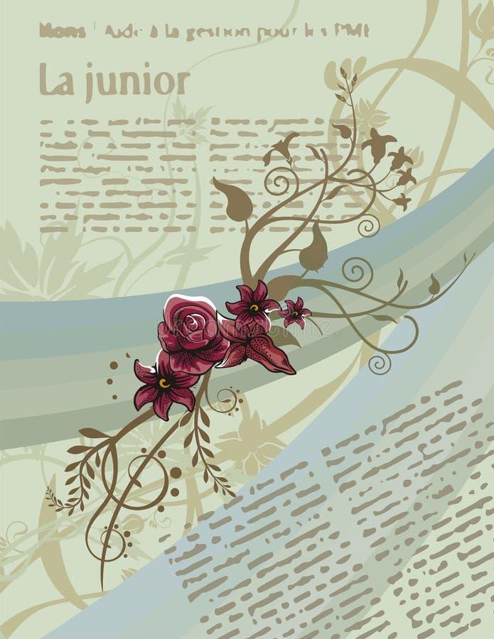 Fundo floral do artigo ilustração stock