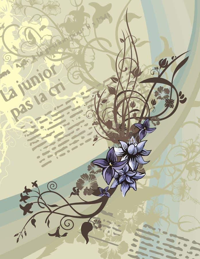 Fundo floral do artigo ilustração royalty free
