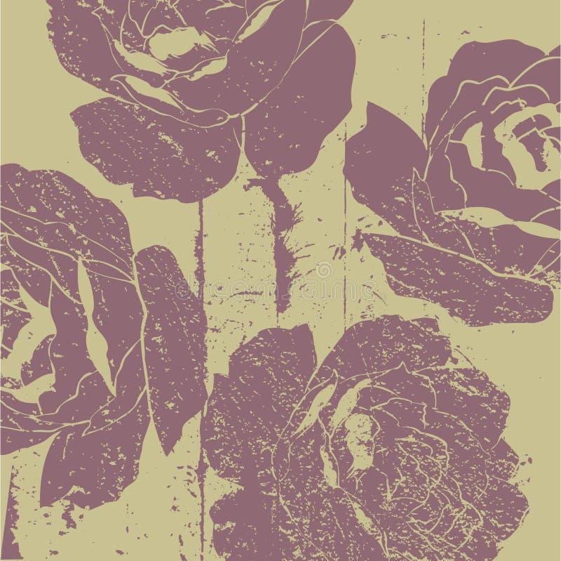 Fundo floral do deco da arte ilustração do vetor