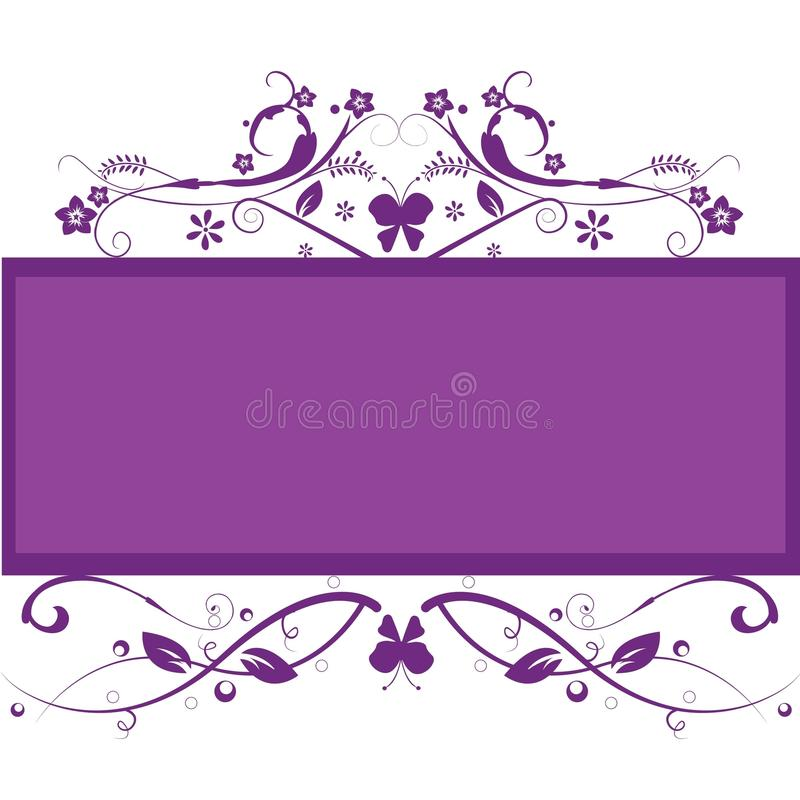 Fundo floral do frame ilustração royalty free