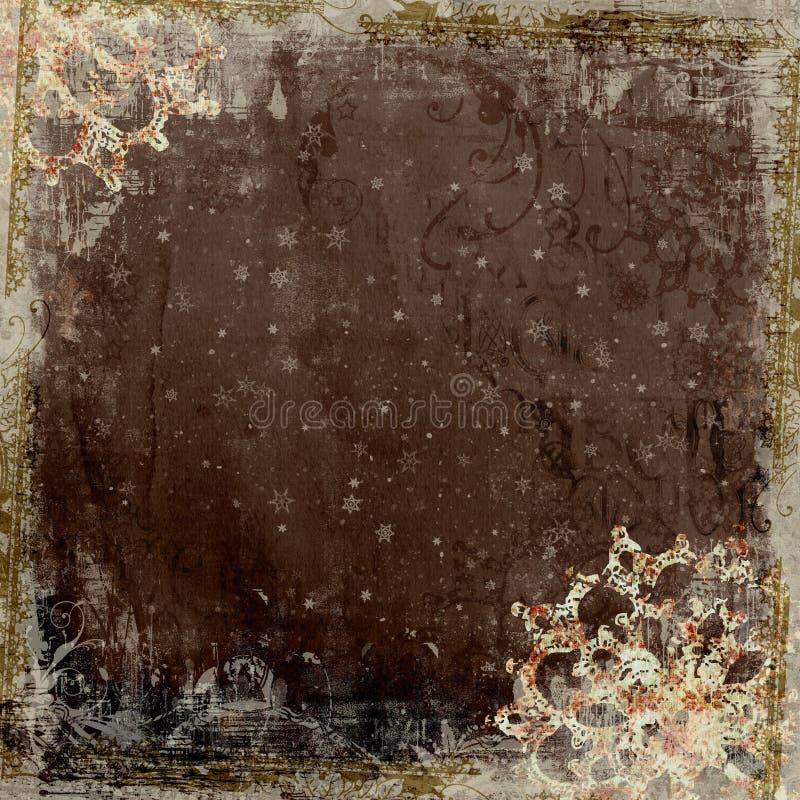 Fundo floral do frame do projeto do Batik de Artisti ilustração royalty free