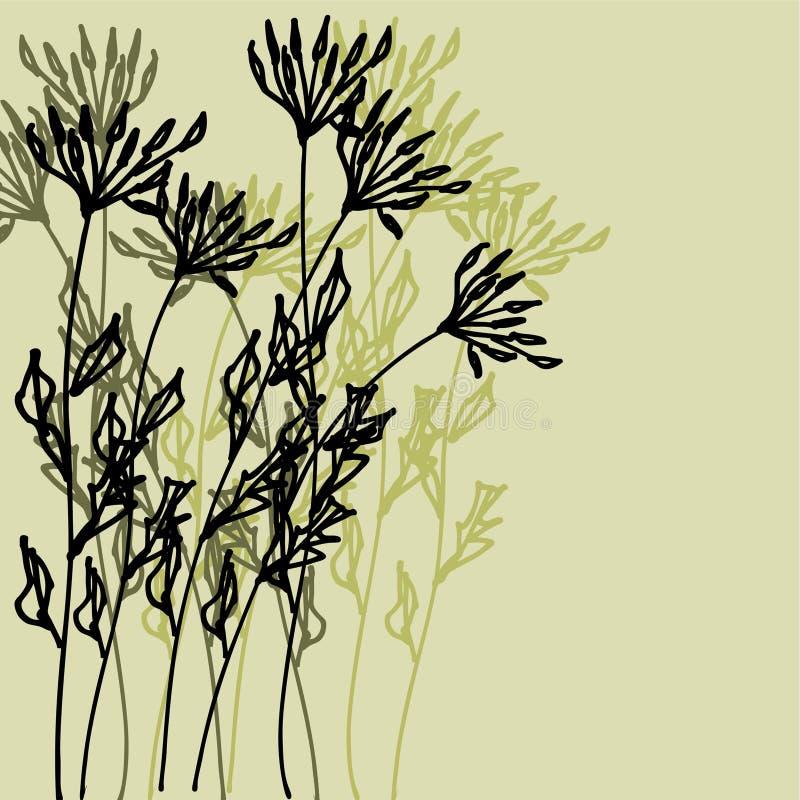 Fundo floral do gráfico do desenho da arte ilustração stock