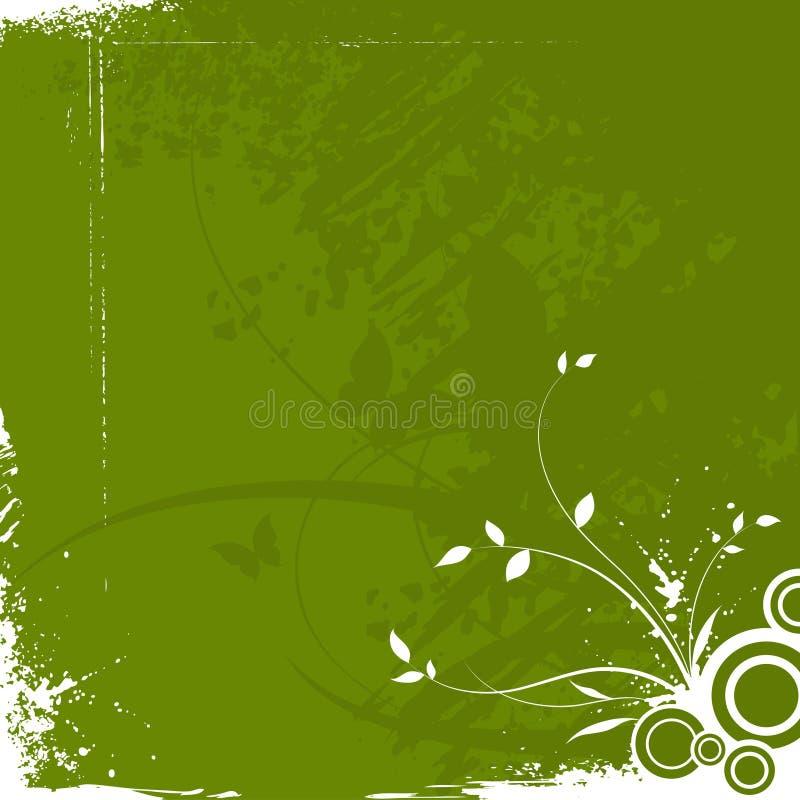 Fundo floral do grunge abstrato ilustração stock